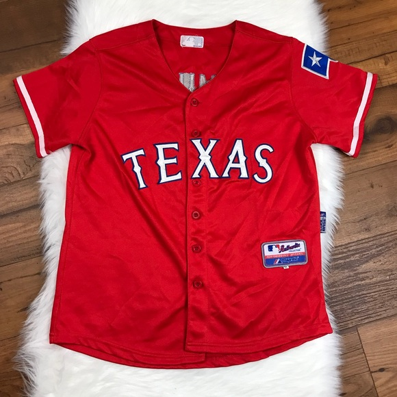 best sneakers bf7b9 80911 Majestic MLB Texas Rangers Josh Hamilton Jersey